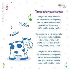 *Letras de Canciones infantiles. - EduInf35 Preschool Spanish, Preschool Songs, Preschool Education, Teaching Spanish, Teaching Kids, Baby Lyrics, Baby Songs, Kids Songs, Infant Activities