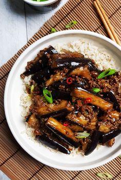 Lamb Recipes, Veggie Recipes, Asian Recipes, Vegetarian Recipes, Healthy Recipes, Szechuan Eggplant Recipe, Eggplant Recipes, Minced Meat Recipe, Slow Cooker