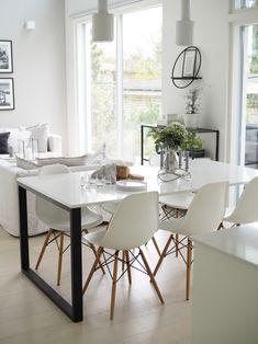 Kuistin kautta: Täydellinen ruokapöytä Silestone materiaalista Carrara, Dining Table, Furniture, Home Decor, Decoration Home, Room Decor, Dinner Table, Home Furnishings, Dining Room Table