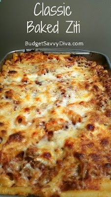 Classic Baked Ziti - Recipes, Dinner Ideas, Healthy Recipes  Food Guides