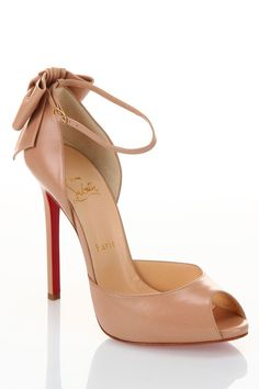 Louboutin Dos Noeud Pumps in Nude - Beyond the Rack LOVE LOVE LOVE THESE...