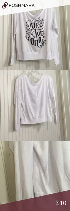 """🍁New Listing🍁 Jedidiah long sleeve  tee Jedidiah  long sleeve """"All For One"""" Tee  65% Poly 35% Viscose. Some light pilling and one small lightly visible spot on front. Used condition from smoke free home. Jedidiah Tops Tees - Long Sleeve"""