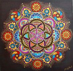 Mandala of life Paint by number kit Paint by numbers kit DIY Mandala Art, Mandala Drawing, Peace Tumblr, Art Fractal, Sacred Geometry Art, Geometry Tattoo, Life Paint, Paint By Number Kits, 5d Diamond Painting