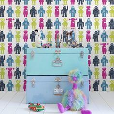Kids Wallpaper, Robot, Classic, Design, Derby, Classic Books, Robots