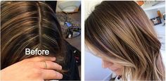 Stripey highlights before and after