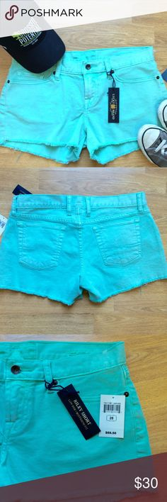 """NWT Lucky Brand Mint Green Riley Shorts An easy boyfriend fit meets colorful denim in the Riley shorts, the perfect way to get in the summer spirit.  New with tags ⭐️ 98% cotton 2% spandex Waist 16.5"""" Inseam 3""""  Rise 8.5"""" Lucky Brand Shorts Jean Shorts"""