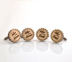 Wedding WOOD Cufflinks SET  Father of the by GothChicAccessories, $45.00
