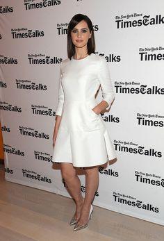 The Demure Felicity Jones - Felicity Jones in Dior