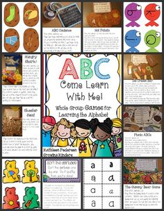 """Unit, """"ABC Come Learn with Me"""" (not free; from Growing Kinders)"""