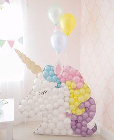 Unicorn Balloon Mosaic TEMPLATE