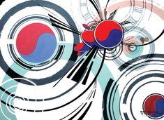 [영주&안동 영원한미소] 영주&안동 영원한미소 - 기초디자인 - 연구작 (소재 : 태극기) : 네이버 블로그 Korean Flag, Korean Tattoos, Chicago Cubs Logo, Team Logo, Digital, Logos, Shirt, Painting, Korea