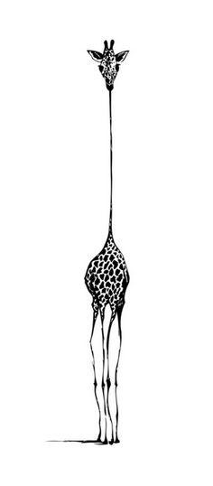 Giraffe Art Print by nicolecioffe Giraffe Drawing, Giraffe Painting, Giraffe Art, Cute Animal Drawings, Pencil Art Drawings, Art Drawings Sketches, Giraffe Pictures, Art Techniques, Cute Art