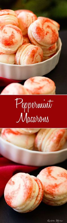 Peppermint Macarons are easy to make and delicious. This post includes a full recipe, with tips and tricks and a full video tutorial