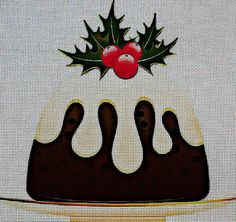 Needlepoint Canvas - Christmas christmas pudding dessert https://www.stitchartneedlepoint.com/products/700001294201