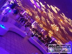 Aqua Turf - Texture lighting on ceiling over lounge area