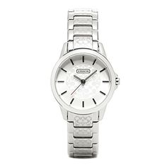 Coach Classic Signature Ladies Silver Logo Swiss Quartz Watch 14501609 >>> Check out the watch by visiting the link.