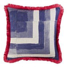 bonnie & neil coastal tile cushion - blue