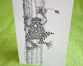 Cute Tree Frog....Zentangle Frog Cards Variety Set of 4 by DianeSpringer on Etsy. $9.50, via Etsy.