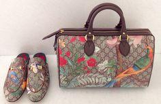 Bag and shoes Gucci Tian GG Supreme by Gucci SS16 at #ilduomonovara