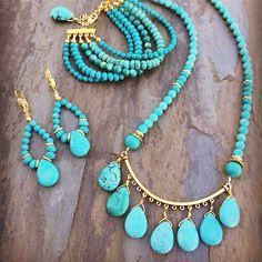 Bohemian boho jewelry set designed by Molly Schaller