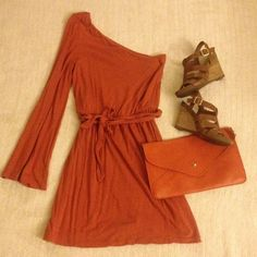 Grecian Orange Summer Dress Final Reduction!! Rich orange one sleeve dress from H&M. Soft jersey material with matching tie around waist- long enough to tie in front, back, wrapped around twice- whatever you like. Short, above knee length. Bell sleeve. Size Sm- fits TTS or slightly smaller. In very good used condition. no PayPal H&M Dresses One Shoulder
