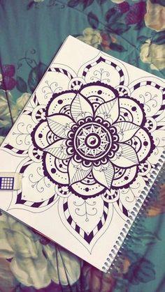 dibujos-de-mandalas-elementos-de-flores-simbolo-de-yin-yan-fácil-de-dibujar Mandala Art, Mandalas Painting, Mandalas Drawing, Zentangles, Wall Drawing, Cool Art Drawings, Mini Drawings, Girls Heart, Inspiration Drawing