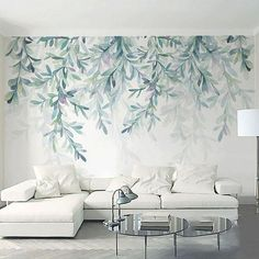 Nature decor Wall Decor Forest Fresco Mural Wallpaper m Beautiful Natural Decor Nature inspired Design home decor Forest Homes Living Room Murals, Living Room Remodel, Living Room Decor, Dining Room, Wallpaper Decor, Home Wallpaper, Wallpaper For Living Room, Nature Wallpaper, Wallpaper For Walls