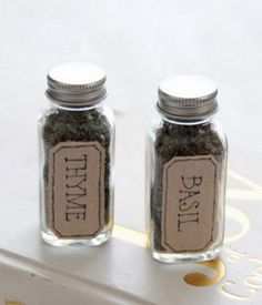 ways to label your spice jars