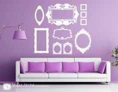 Frame Wall Decals Baroque Collection Large by singlestonestudio. $110.00, via Etsy.