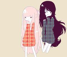 Bubblegum x Marceline (Adventure Time)