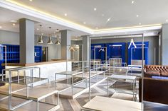 Pro Shop | Golf | Retail Design | Display | High gloss blue | Shop | Blue | Wood | Glass | Marble | Oak | Clubhouse | De Zalze | Etienne Hanekom Interiors
