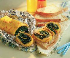 Salame di uova, spinaci e fontina