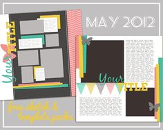 May Sketch and Template Bundle @ amykingsford.com