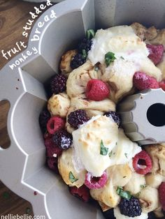 berry monkey bread, a recipe from NellieBellie