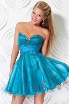 Blue Sweetheart Short Satin Sweet 16 Dress with Crystal and Ruched and Yarn