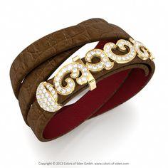 Leather Diamond Bracelet SANS SOUCI DELUXE at Colors of Eden #diamond #bracelet