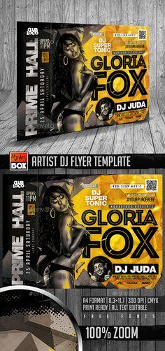 Artist Dj Flyer Template PSD. Download here: http://graphicriver.net/item/artist-dj-flyer-template/15723030?ref=ksioks