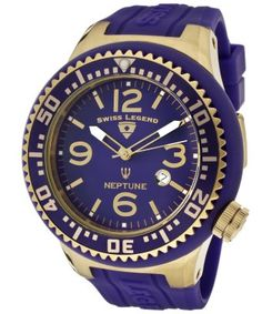 Swiss Legend : Men's Neptune Purple Dial Purple Silicone