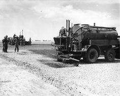 Seabees laying asphalt on Iwo Jima Road Sweeper, Iwo Jima, Road Construction, Real Hero, United States Navy, Military Art, Heavy Equipment, Armed Forces, World War Two