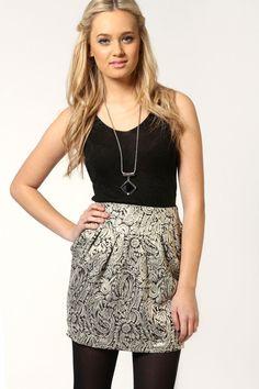 Georgie Heavy Brocade Lampshade Skirt
