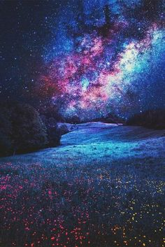 Imagen de stars, galaxy, and night