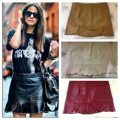 #leather skirts