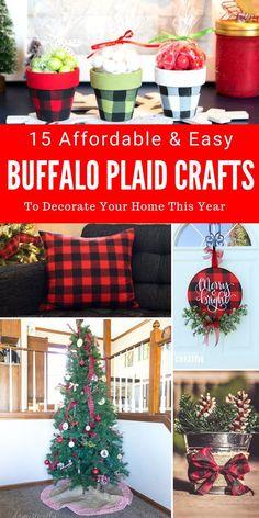 DIY Buffalo Plaid Crafts!
