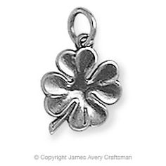 Four Leaf Clover Charm in Gift Ideas from James Avery Jewelry Leaf Jewelry, Charm Jewelry, Jewelry Box, Four Leaves, James Avery, Four Leaf Clover, Lucky Charm, Heart Charm, Gifts For Her