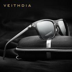 VEITHDIA Retro Aluminum+TR90 Polarized Vintage HD Driving Sunglasses