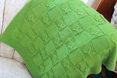 free pattern...Ravelry: Leafy Baby Blanket pattern by Erica Kempf