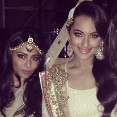 April, 14: Sonakshi & friend at Fundraiser for Ronnie & Zarina Screwvala's Brilliant, Diverse Rural NGO http://www.SwadesFoundation.org/