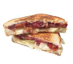 Pear and Bacon Grilled Cheese- perfect use of some of the million pears that were given to us.