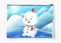 'Snowbaby on Sparkling Ice' Zipper Pouch by We ~ Ivy Presents For Friends, Makeup Pouch, My Themes, Website Themes, Good Cause, Sparkling Ice, School Bags, Zipper Pouch, Pouches