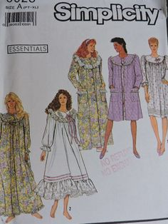SeeSallySew.com - Nightgown Cool Patterns, Sewing Patterns, Lingerie Patterns, Fashion Patterns, Costume Patterns, Nightgown, Cross Stitch Patterns, Gowns, Knitting